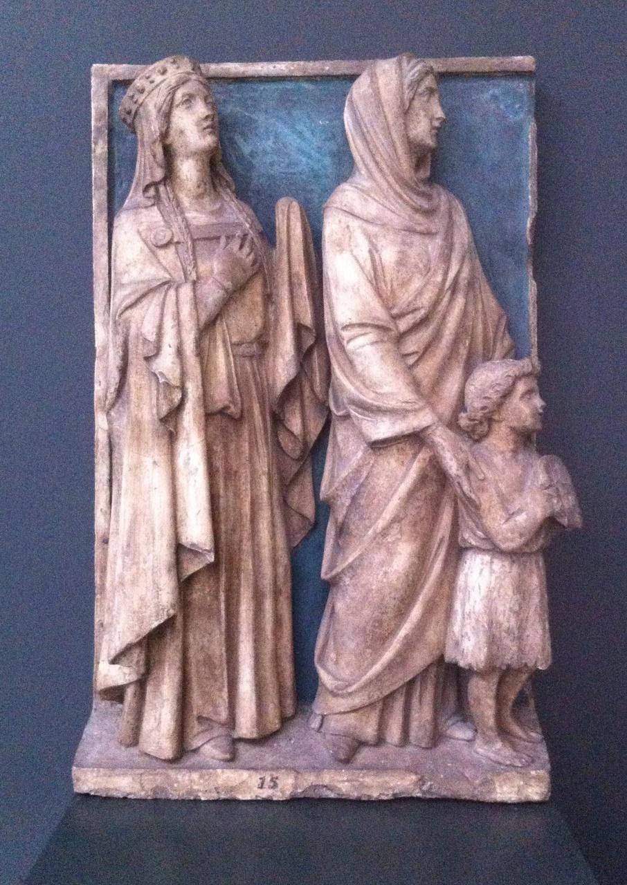 Twee vrouwelijke heiligen en een kind
