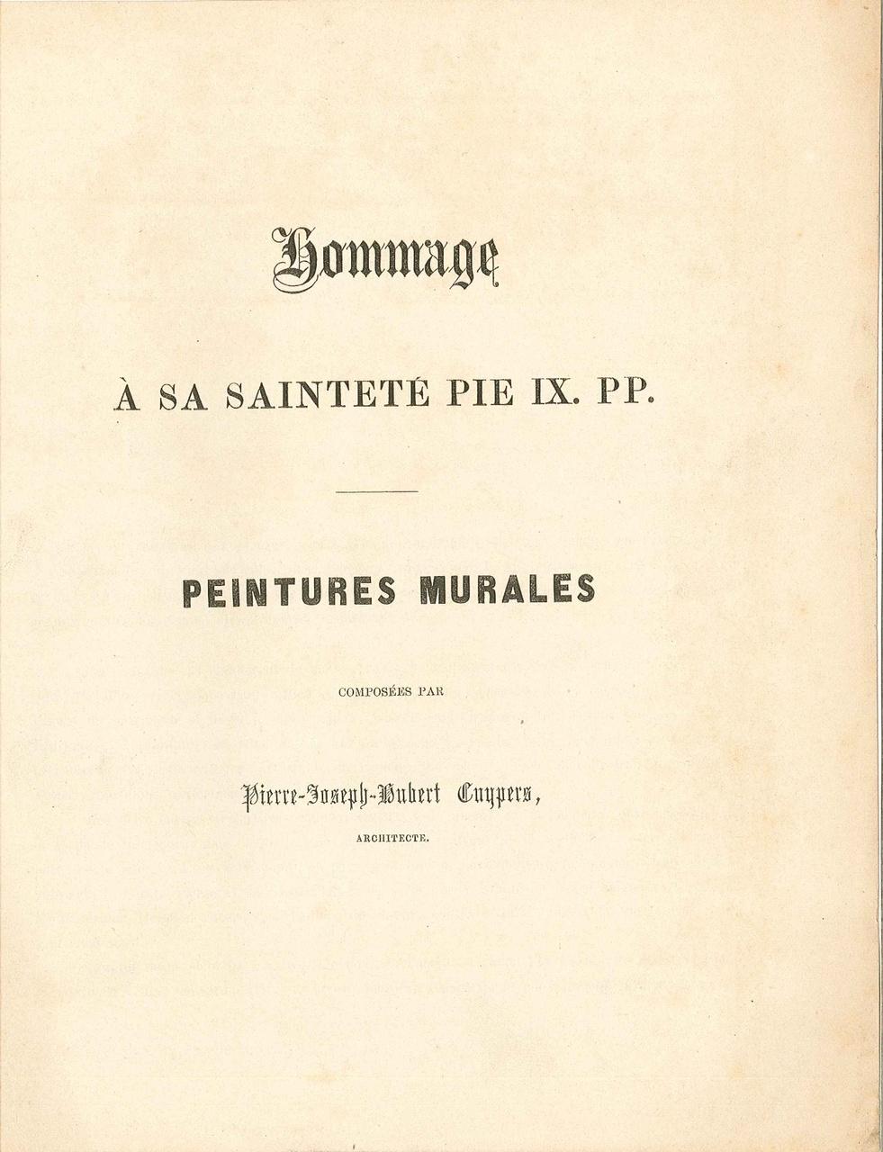 Boekje over muurschilderingen van P.J.H. Cuypers