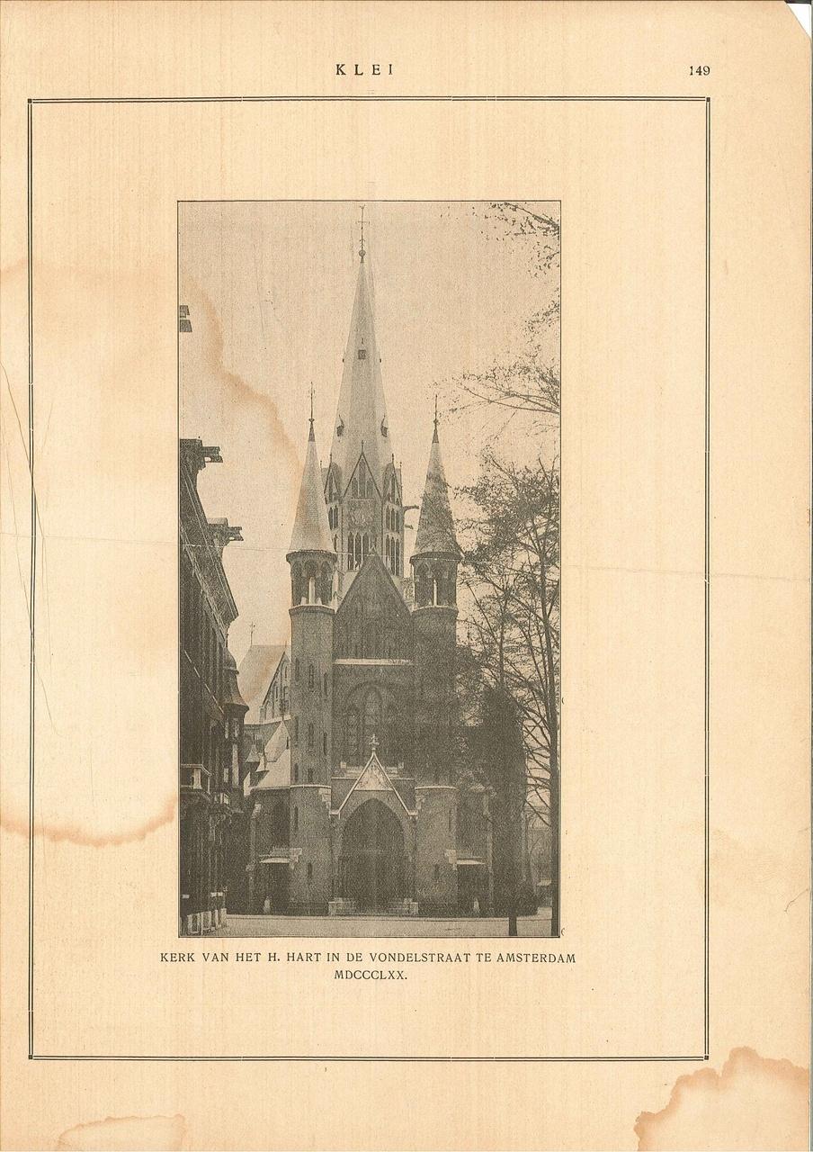 Afbeelding van 'Kerk van het H.Hart in de Vondelstraat te Amsterdam MDCCCLXX