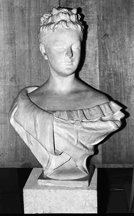 Borstbeeld van Koningin Wilhelmina