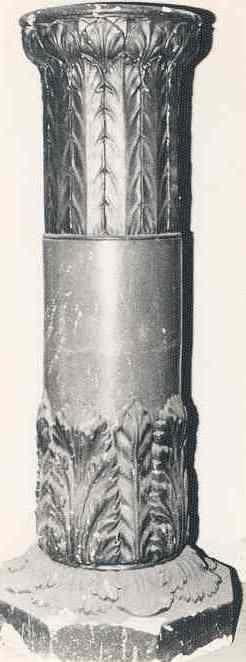 Ronde zuil (piëdestal) op achtkantig voetstuk