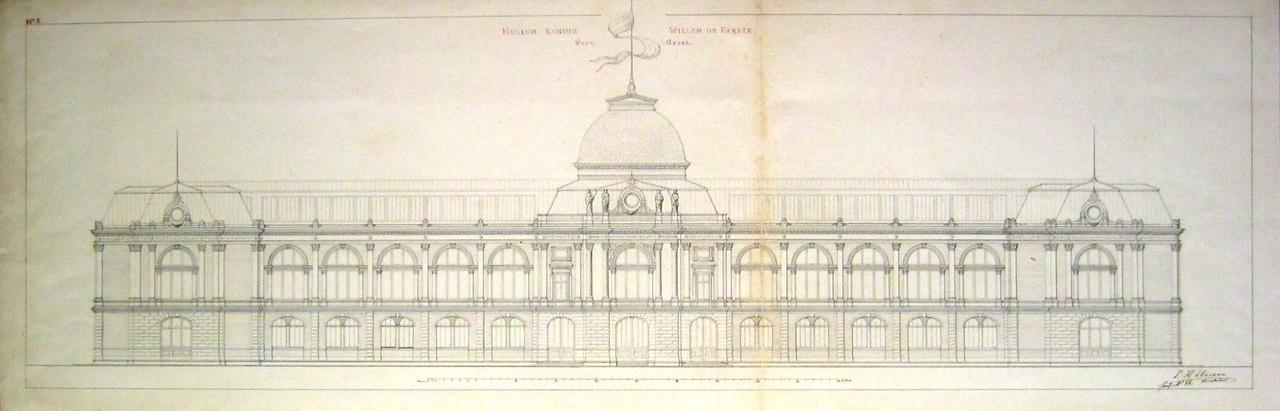 Ontwerp van het museum Koning Willem I