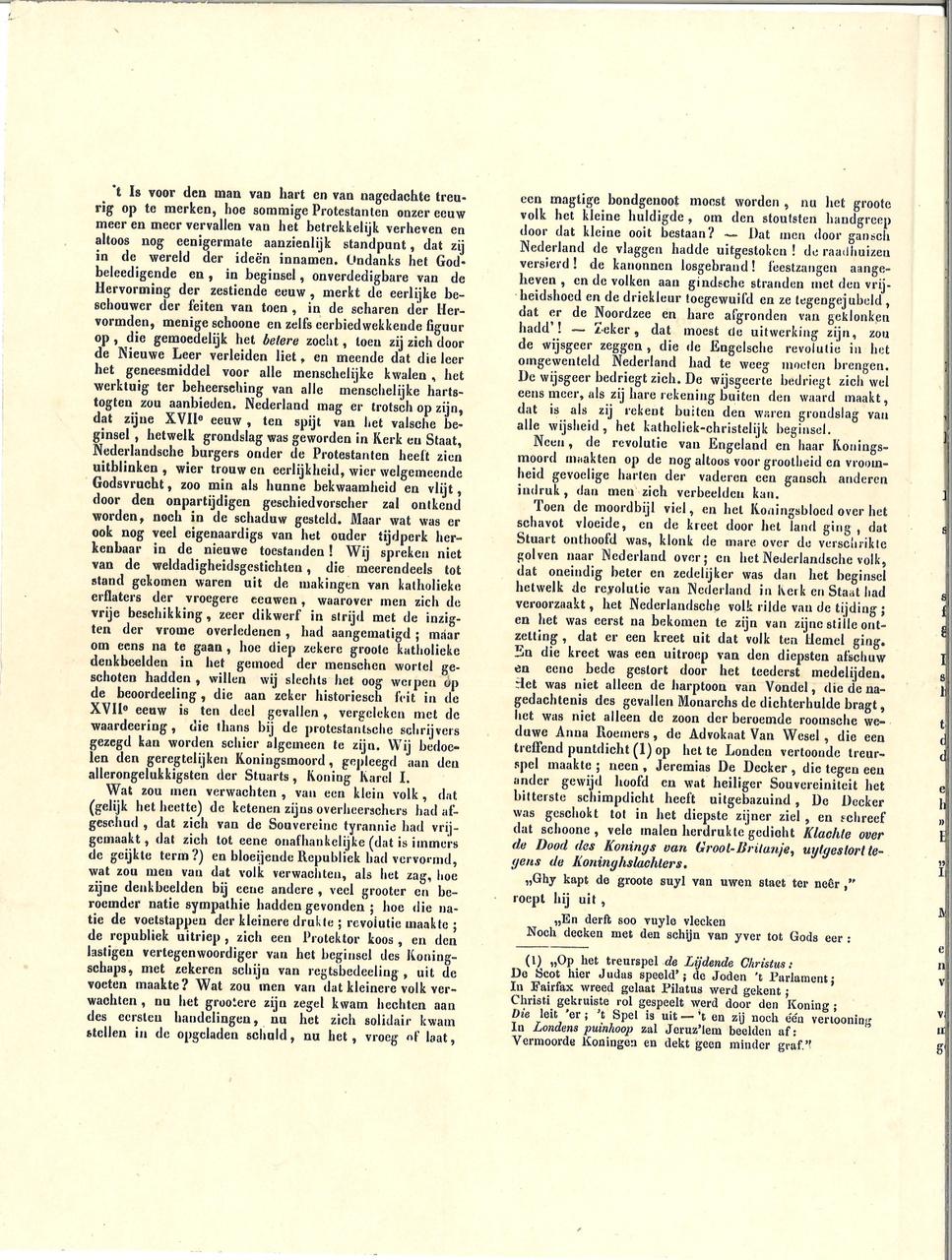 Artikel over protestantisme, zonder titel