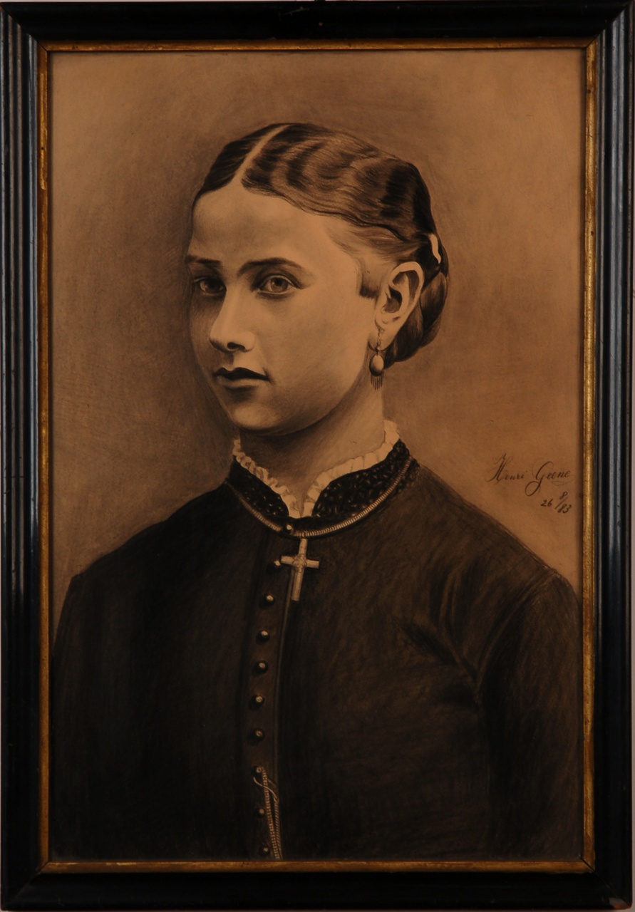 Portret van mej. Jeanette Geene