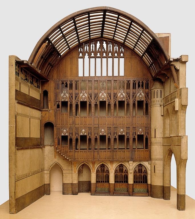 Maquette van de hal van kasteel De Haar te Haarzuylens