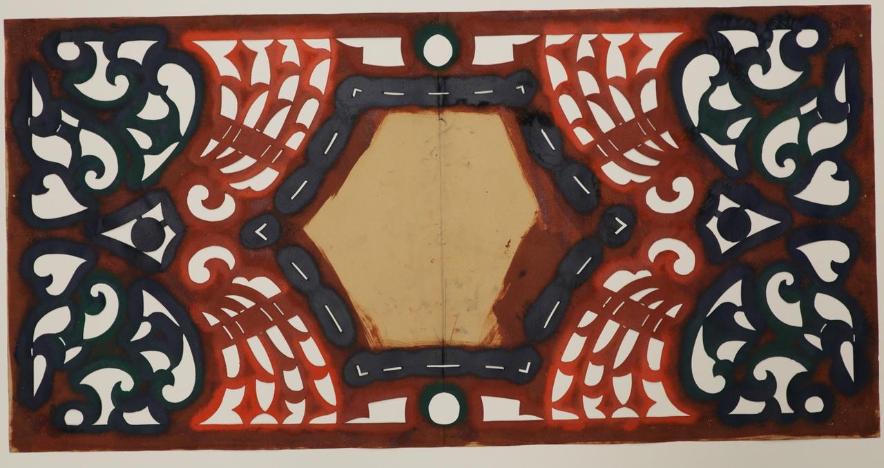 Symmetrisch sjabloon voor breed bandwerk