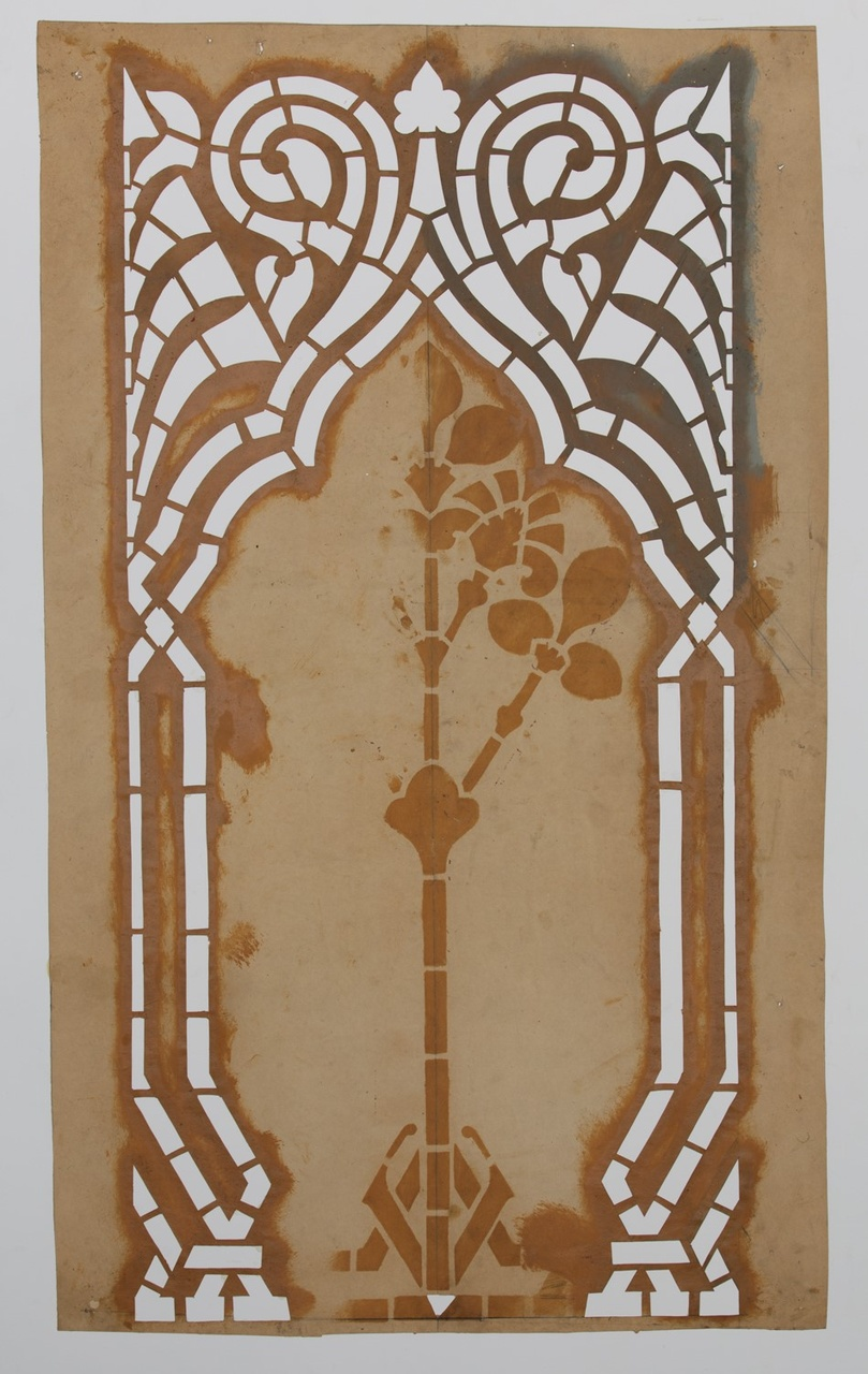 Sjabloon, bestaande uit twee gelijke geometrische vormen die een omlijsting vormen.