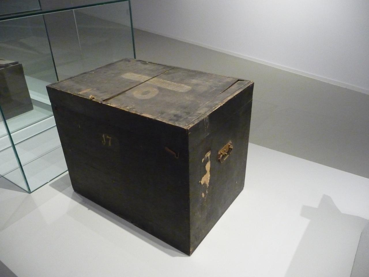 Kist voor glasnegatieven met nummer 0