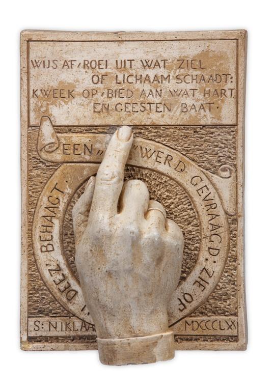 Afgietsel van de hand van P.J.H. Cuypers