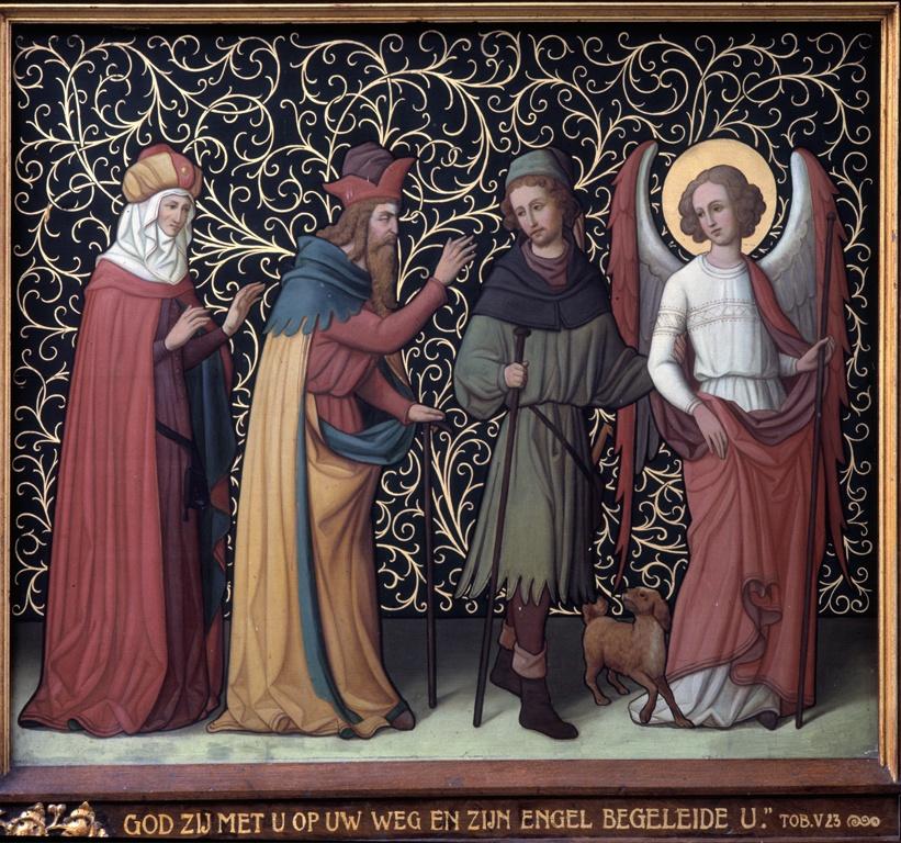 Drieluik met scènes uit het verhaal van Tobias