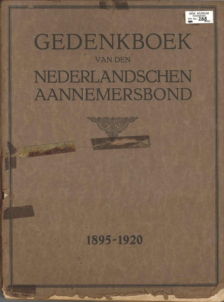 Gedenkboek van den Nederlandschen Aannemersbond 1895-1920
